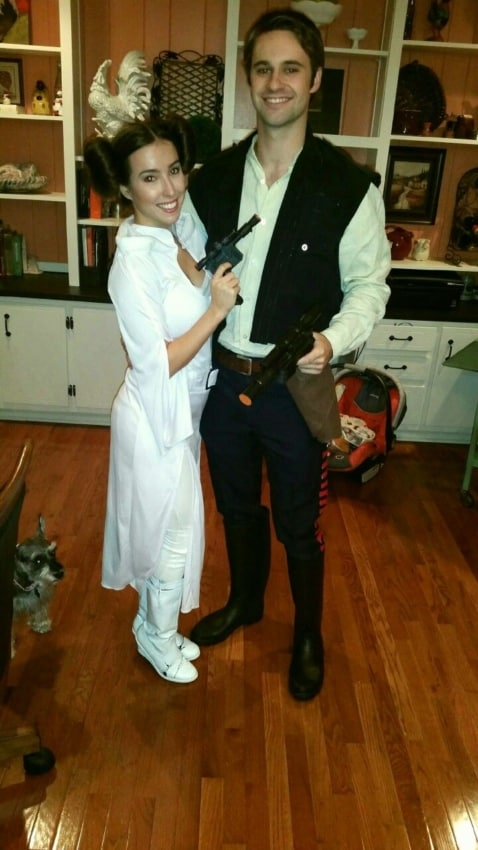 Personagens Princesa Leia e Han Solo Star Wars