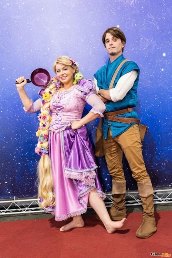 Personagens Rapunzel e Flynn Enrolados