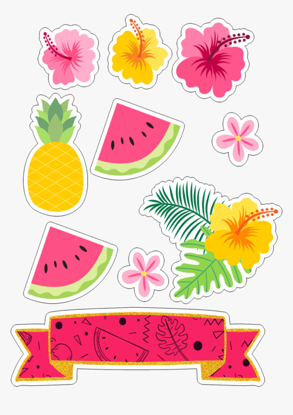 Tema tropical para imprimir
