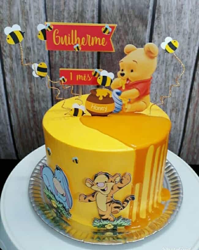 ideia de bolo do urso pooh