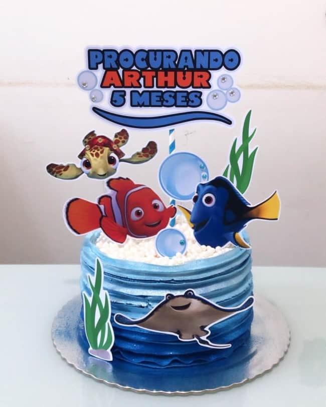 Sugestão de bolo para mesversario do nemo