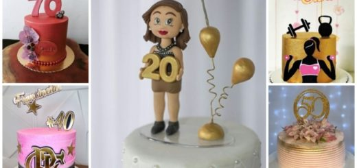 topo de bolo feminino