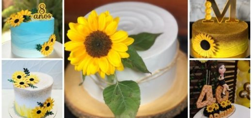 topo de bolo girassol