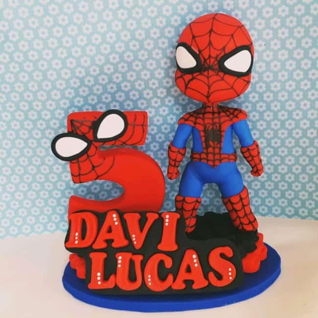 topo de bolo personalizado com nome para bolo de super heroi