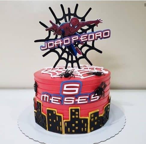 molo de topo de papel para bolo Spider Man