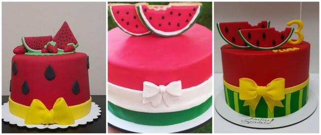 ideias para bolo melancia de pasta americana