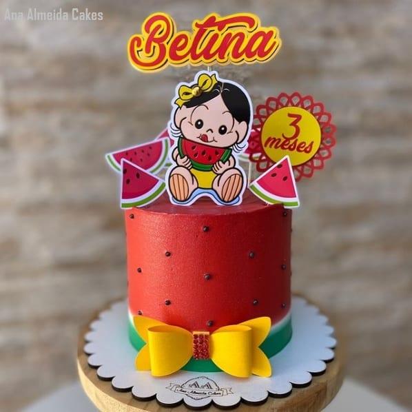 bolo de melancia da Magali para mesversario