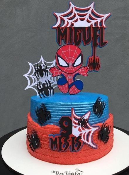 topo cute do Homem Aranha para bolo