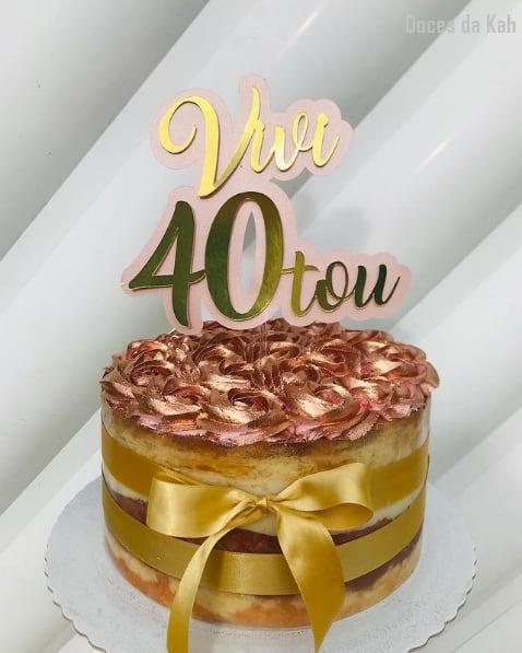 topo de bolo feminino de 40 anos