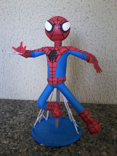 Homem Aranha de EVA para decorar bolo
