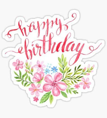 topo de bolo feminino happy birthday para imprimir