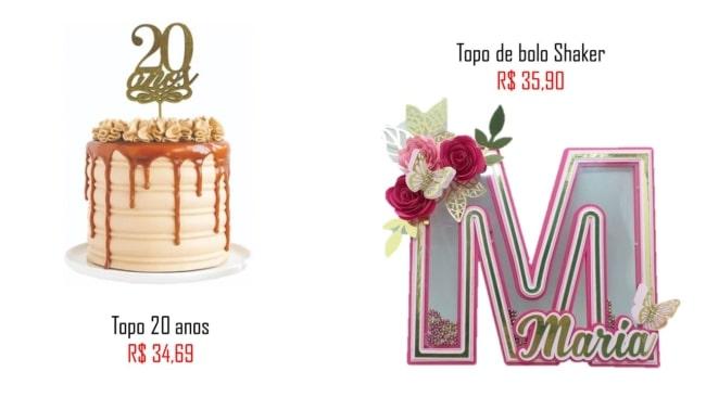 modelos e precos de topo de bolo feminino