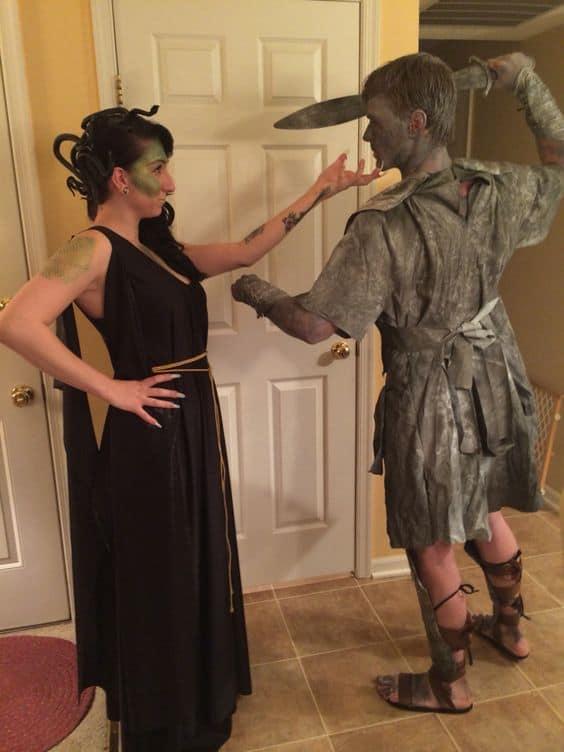 A Medusa e o guerreiro empedrado