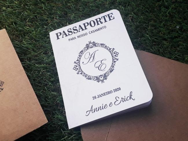 O estilo passaporte da personalidade ao convite