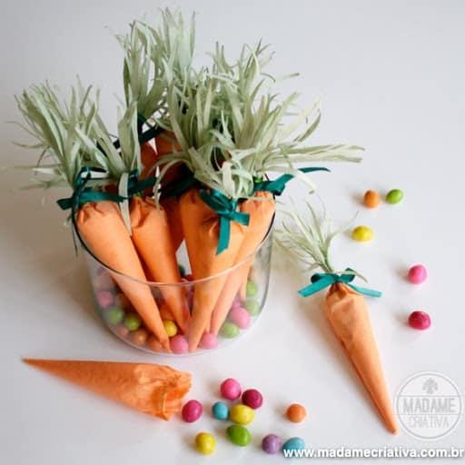 Os modelos em cor laranja viram cenoura em lembrancinhas para Pascoa