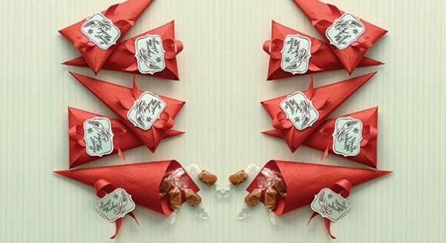Uma embalagem perfeita para cone de doces