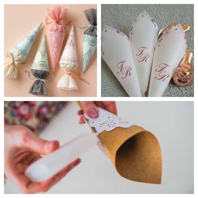 como fazer cone de papel 1