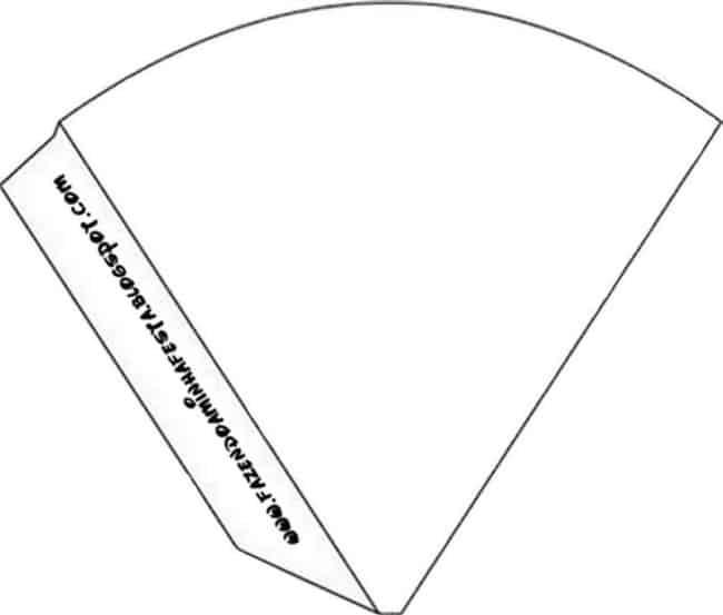 dicas de moldes para cone de papel