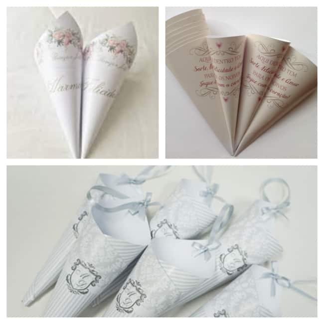 estilos de cone de papel