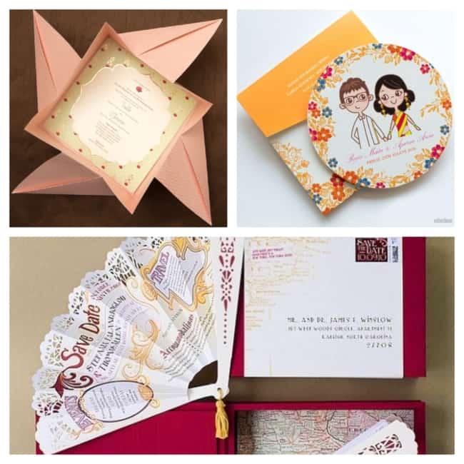 ideias de convite de casamento criativo