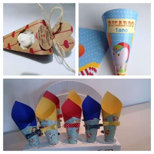 modelos de cone de papel