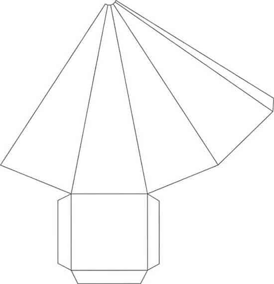 moldes para cone de papel 2
