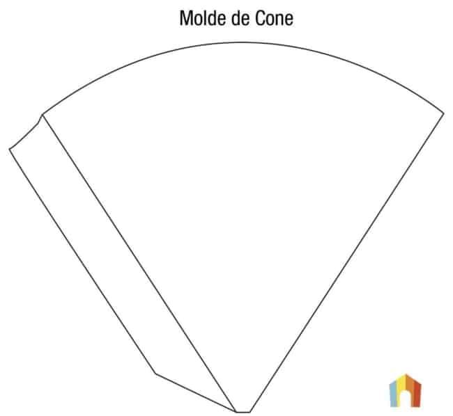 moldes para cone de papel simples
