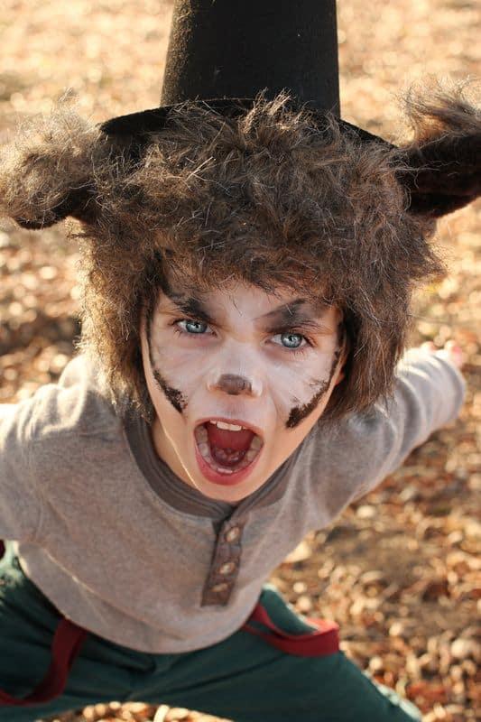 fantasia infantil de lobo mau