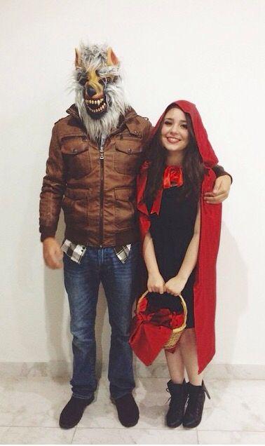 fantasia de casal lobo mau e chapeuzinho