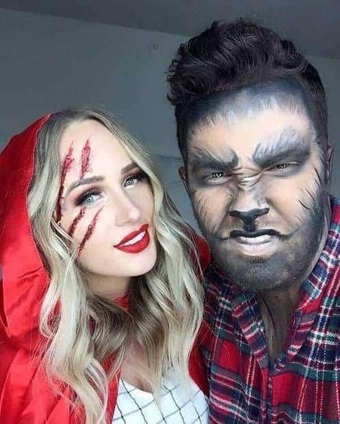 fantasia lobo mau e chapeuzinho vermelho