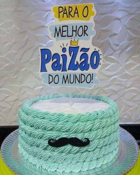 bolo decorado com topo paizao