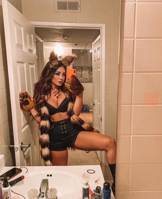 fantasia feminina de lobo
