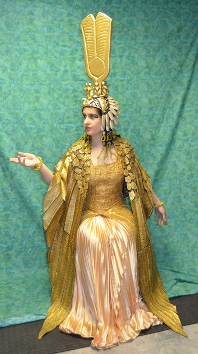 fantasia dourada de rainha do Egito