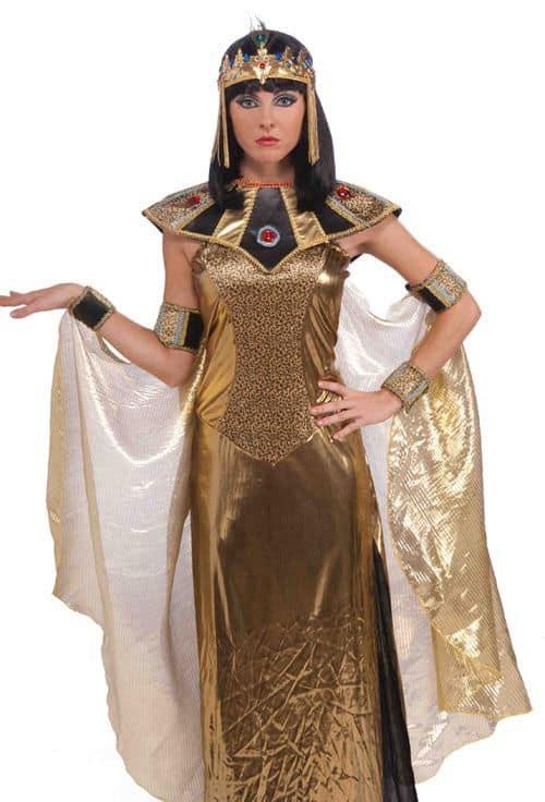 fantasia dourada e preta de rainha do Egito