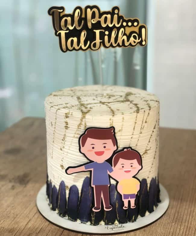 bolo com topo tal pai tal filho
