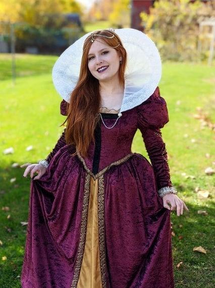 fantasia de rainha medieval