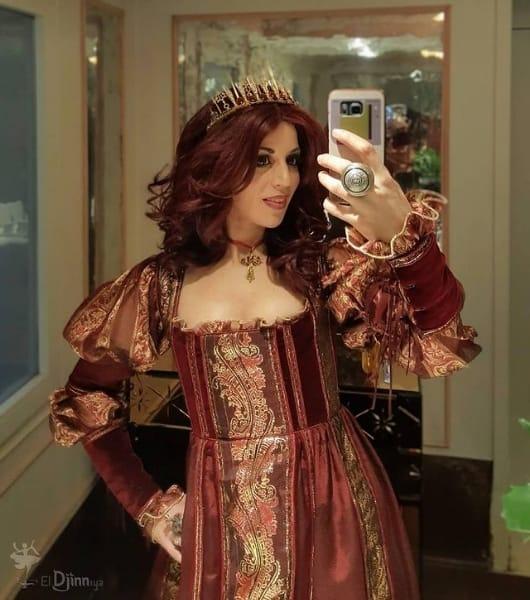 fantasia de luxo de rainha medieval