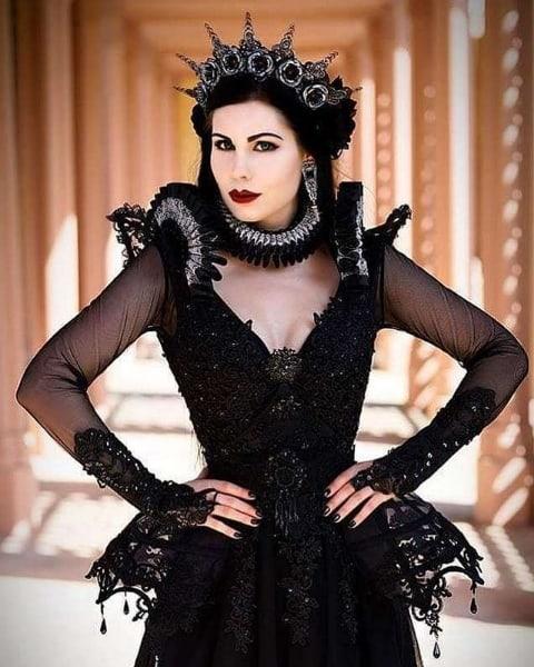 fantasia de luxo de rainha ma