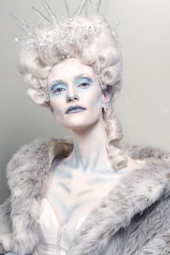 fantasia de rainha do gelo com peruca