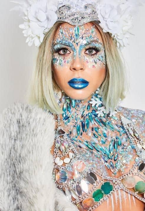 fantasia de carnaval e rainha do gelo