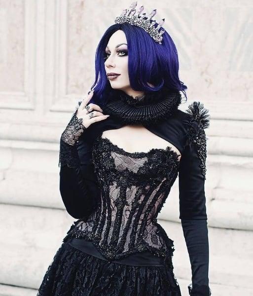 fantasia de luxo de rainha para halloween
