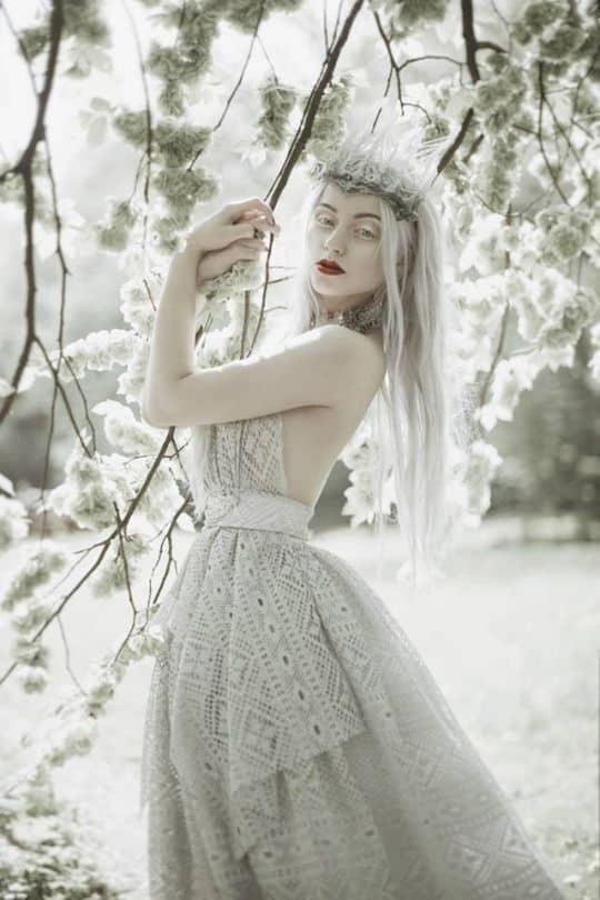 fantasia de luxo de rainha do gelo