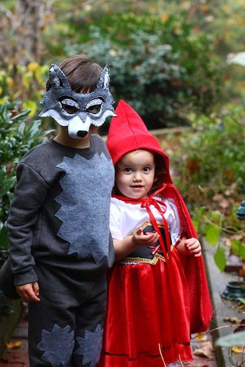 fantasia infantil de lobo mau e chapeuzinho vermelho
