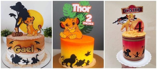 topo de bolo personalizado Rei Leao