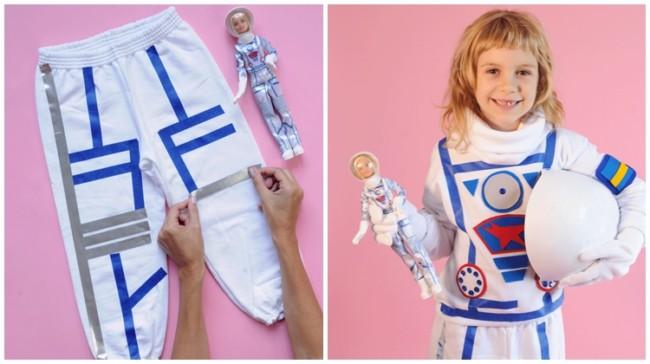 como fazer fantasia de astronauta