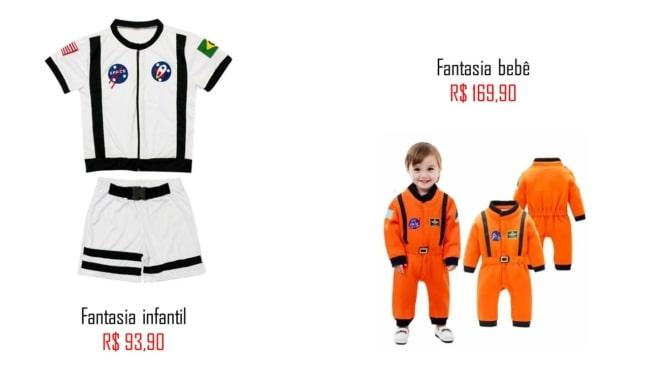 modelos e precos de fantasia astronauta