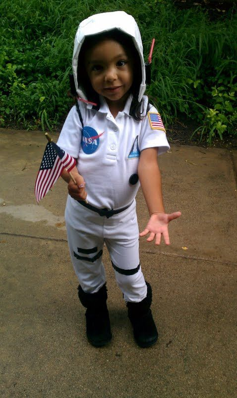 fantasia de astronauta simples para menina