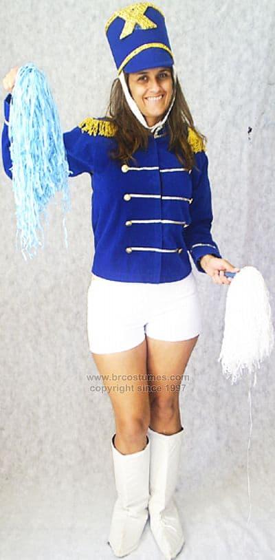 fantasia de paquita azul com short branco