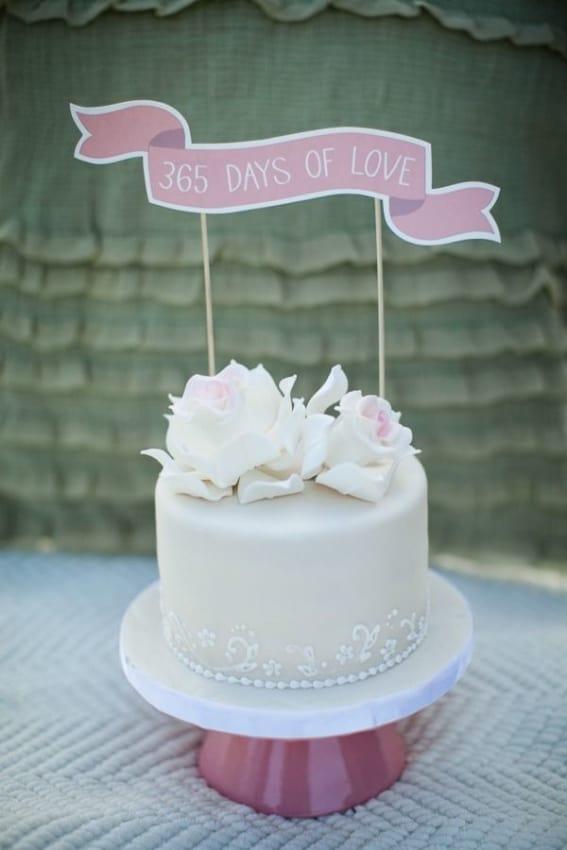 bolo bodas de papel 365 days of love