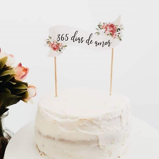 bolo bodas de papel rustico simples